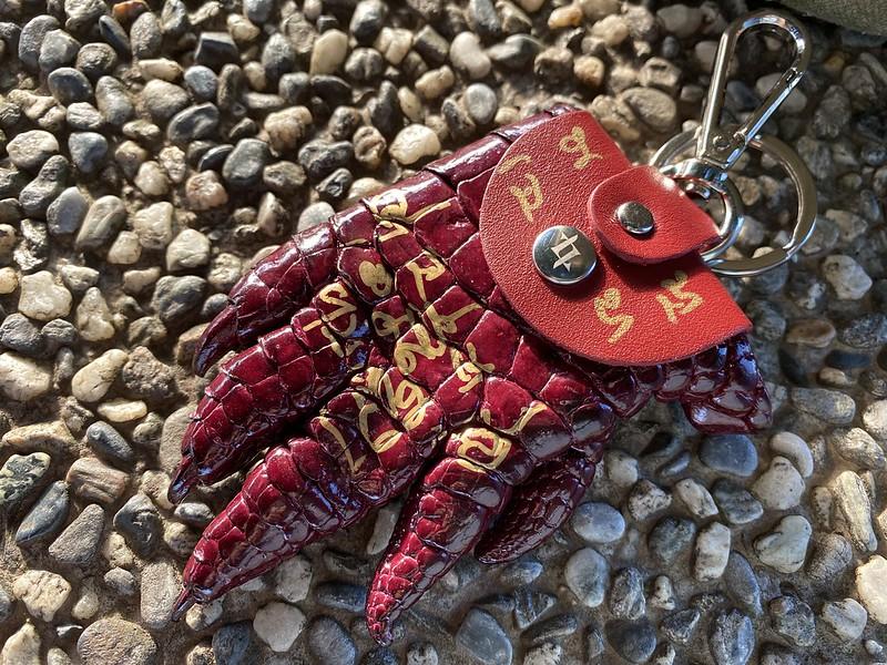 2020泰國伴手禮|招財小物-LONGLAI龍淶招財鱷魚爪造型零錢包,龍婆本廟招財聖物 @秤瓶樂遊遊