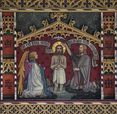 rood loft: Baptism of Christ (Temple Moore, 1913)