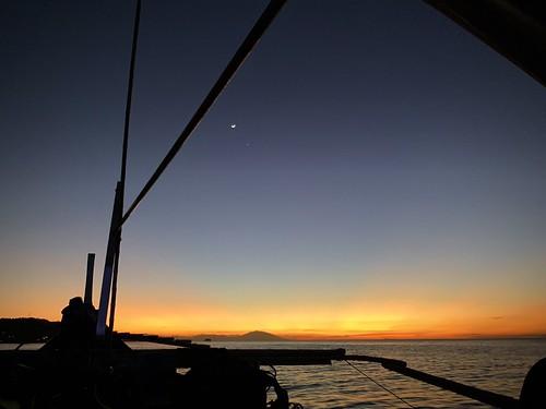 Moon and Venus over Anilao