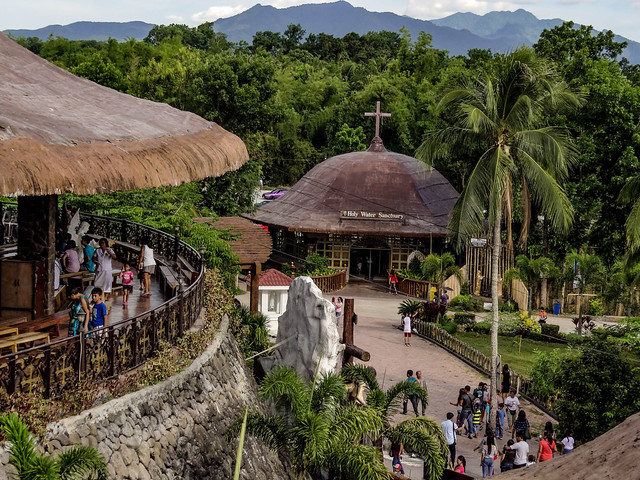 A religious pilgrimage site in the Philippines. A real tropical atmosphere and surroundings.