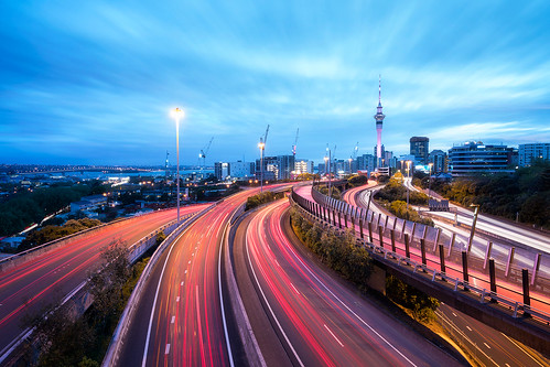 auckland newzealand travel junction spaguettijunction lighttrails longexposure damienborel boblastic wideangle