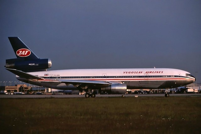 YU-AMA JAT Yugoslav Airlines DC-10-30 at KCLE