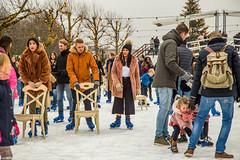 Ice skating on Museumplein, Amsterdam