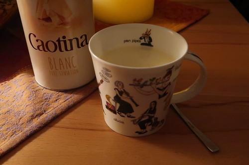 Caotina blanc = Weiße Trinkschokolade