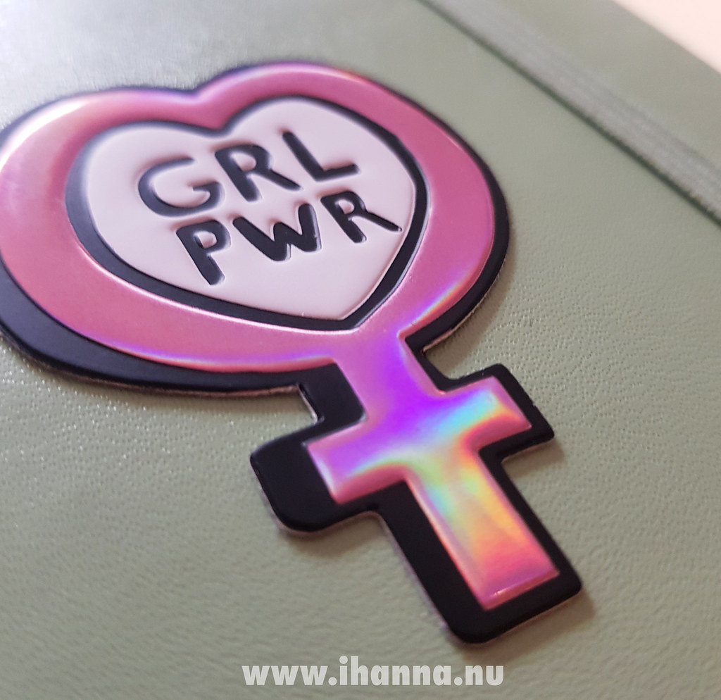 Girl Power Sticker on my diary