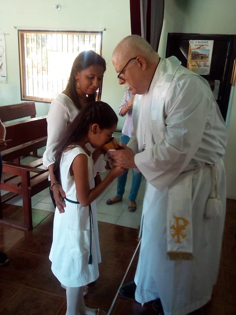 First communion for Karla Frias.