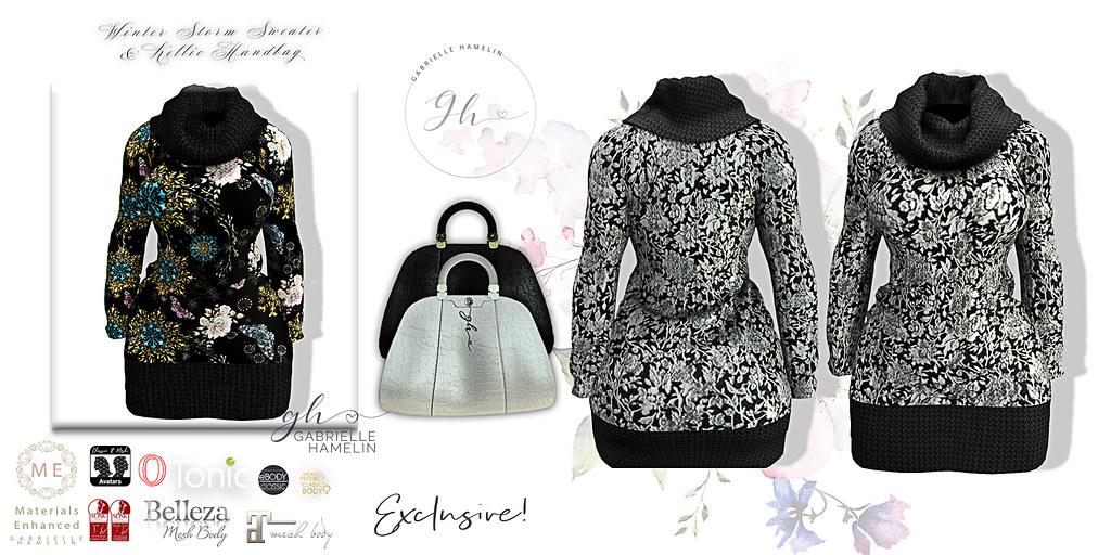 Winter Storm II Wool Dress & Kellie Handbag