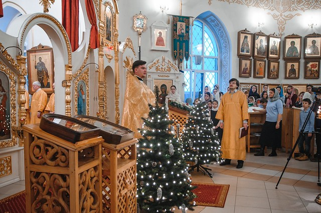 5 января 2020 г. Поздняя Божественная Литургия Недели пред Рождеством Христовым.