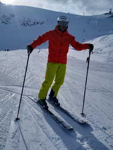 Na sjezdovkách ledovce Rettenbach