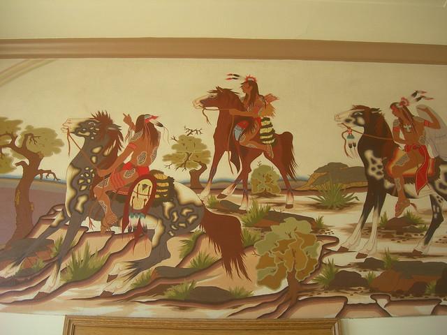 Nowata OK Post Office Mural Detail