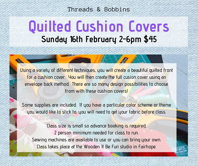 Threads & BobbinsQuilted Cushion Covers