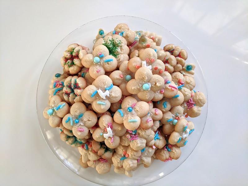 Plate of spritz cookies