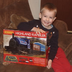 Thomas gets his first tank engine from Santa