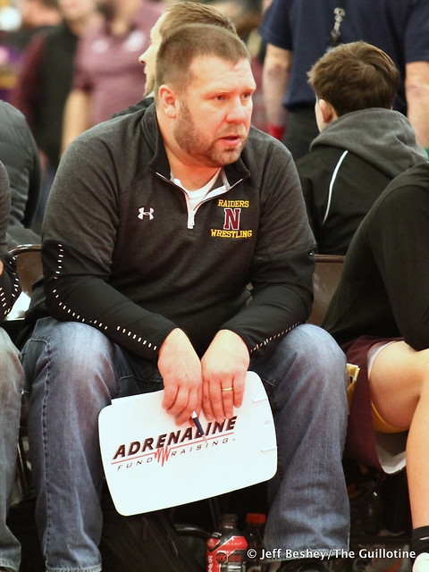 Northfield wrestling coach Geoff Staab. 200104BJF0003