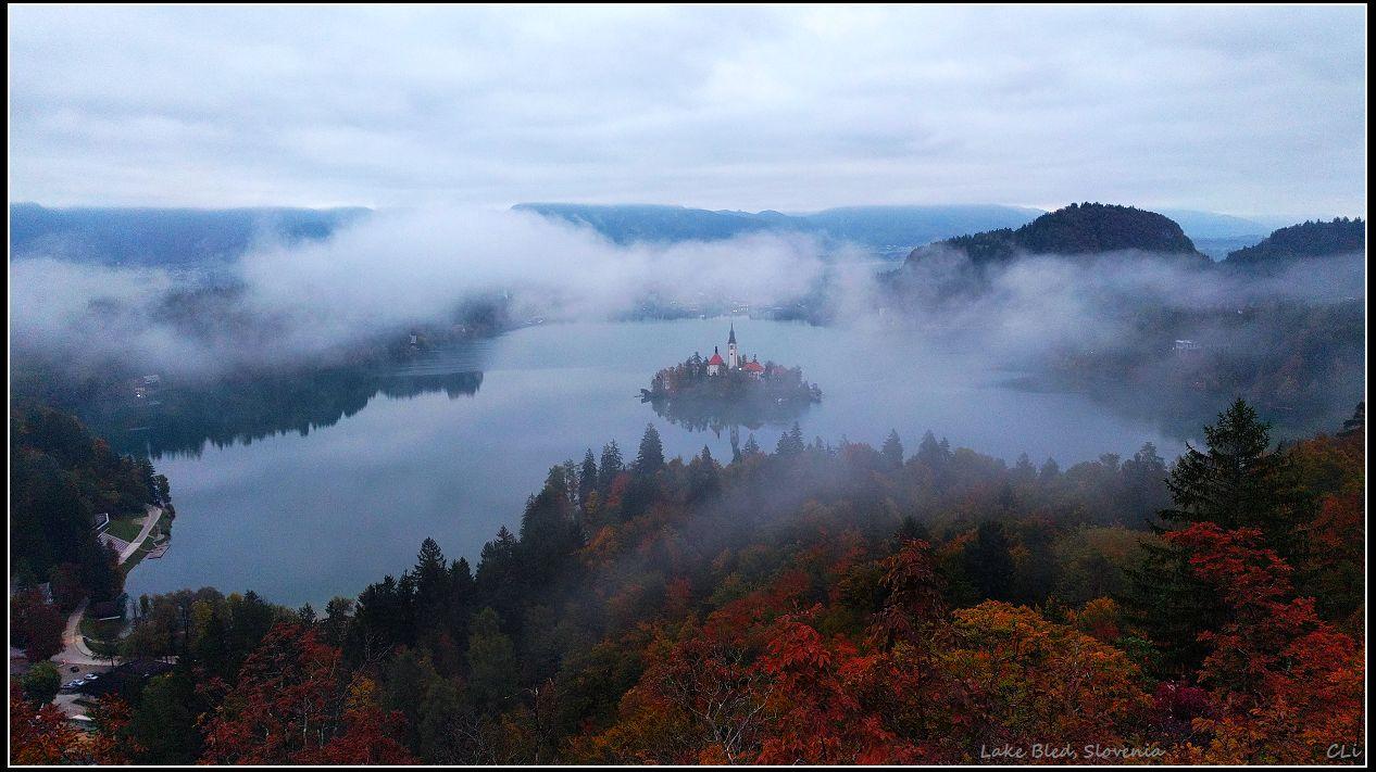 秋游欧洲7 仙境般的秋色:布莱德湖和十六湖国家公园