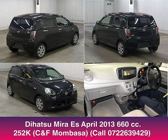 Daihatsu Mira ES. 660cc 118,800 km C&F Mbsa Ksh. 252,000 including QISJ inspection single payment direct deal. (The car is in Japan. The price quoted is for the car and the cost of freight to Msa. Then you just pay duty. Duty and port charges for this car