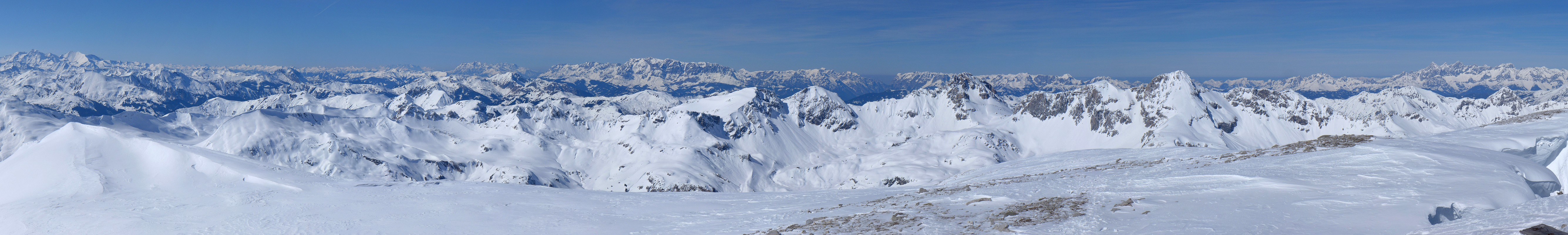 Weisseck Niedere Tauern Rakousko panorama 34