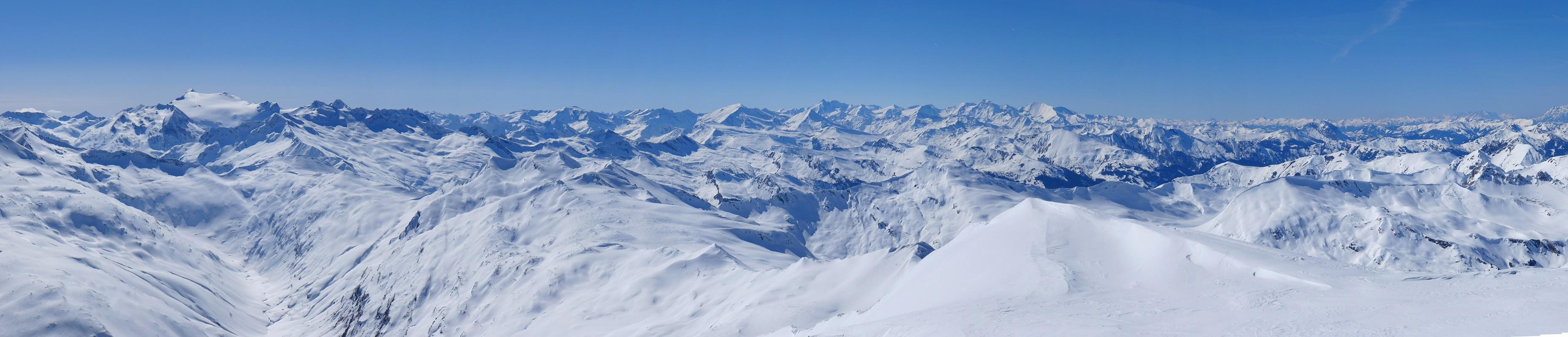 Weisseck Niedere Tauern Rakousko panorama 33