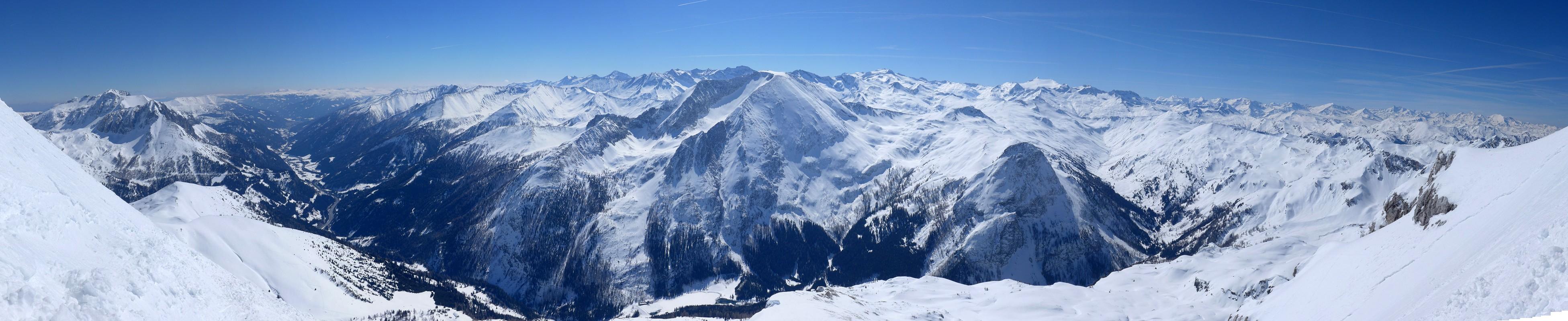 Weisseck Niedere Tauern Rakousko panorama 44