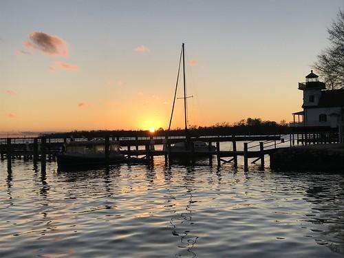 edenton northcarolina nc sunset bridge innerbanks light house lighthouse marine maritine