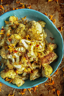 Curry Roasted Cauliflower From HeatherChristo.com | by Heather Christo
