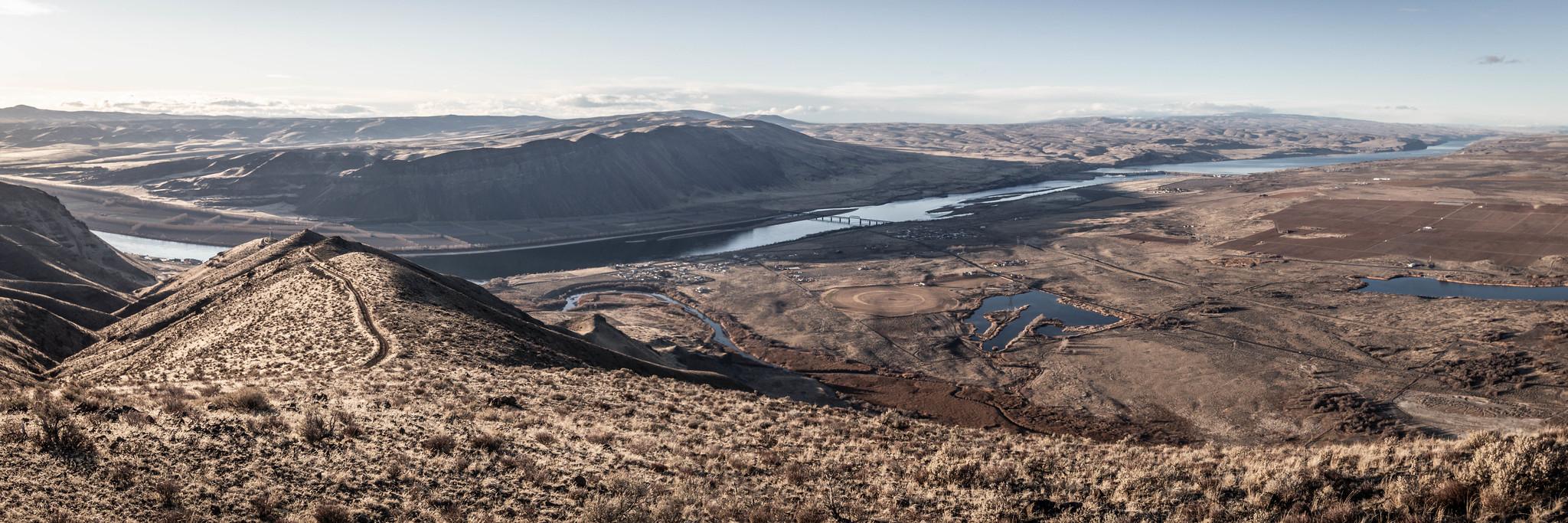 West-northwest panoramic view
