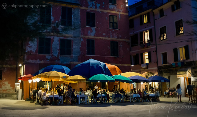 Night scene, Vernazza, Italy