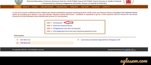 AP PECET 2020 Application Form