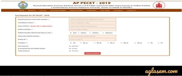 AP PECET 2020 registration