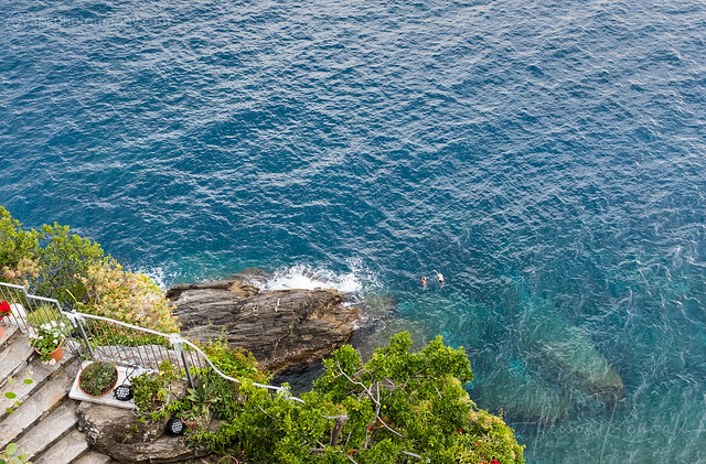 Swimmers, Cinque Terre, Italy