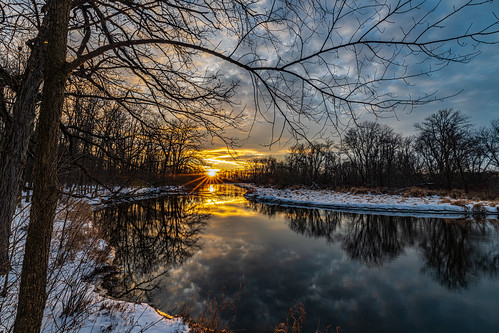 usa foxriver sunset nature wisconsin nikond850 water january unitedstates waukesha newyearsday 2020 unitedstatesofamerica