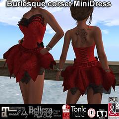 Burlesque corset MiniDress