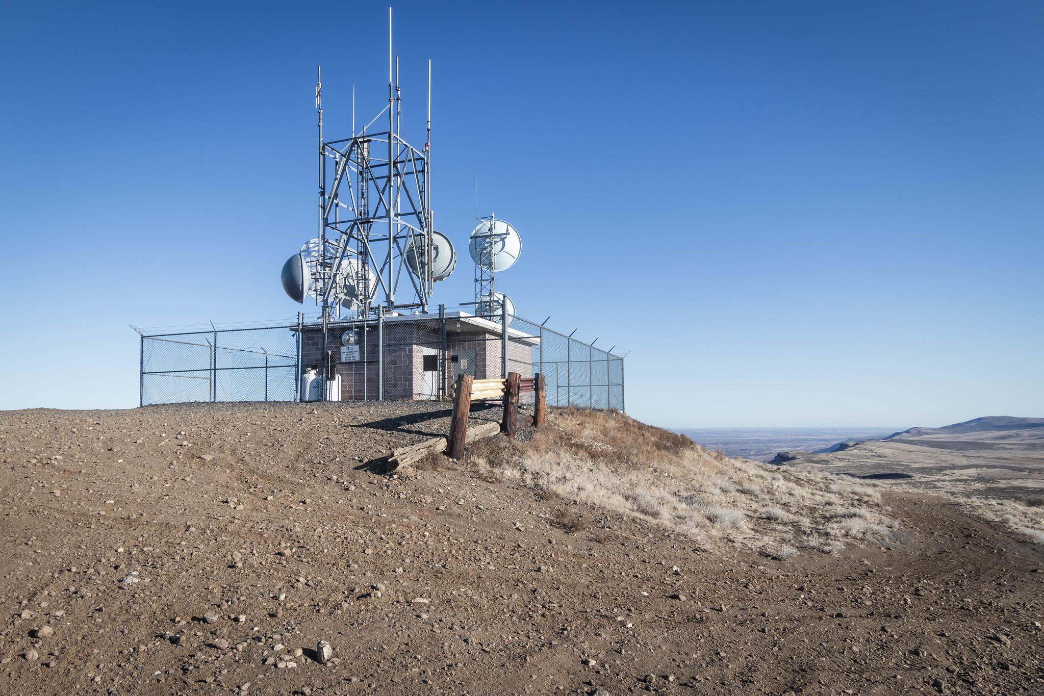 Sentinel Mountain radio towers
