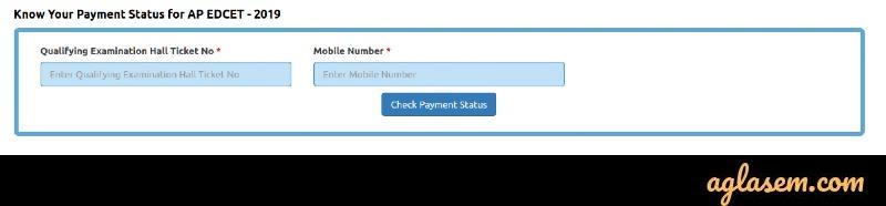 AP EdCET 2020 Application Form Payment status