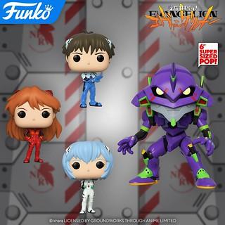 頭超大的初號機! Funko Pop! Animation 系列《新世紀福音戰士》碇真嗣、綾波零、明日香三位適格者登場,還有尺寸更巨大的初號機!