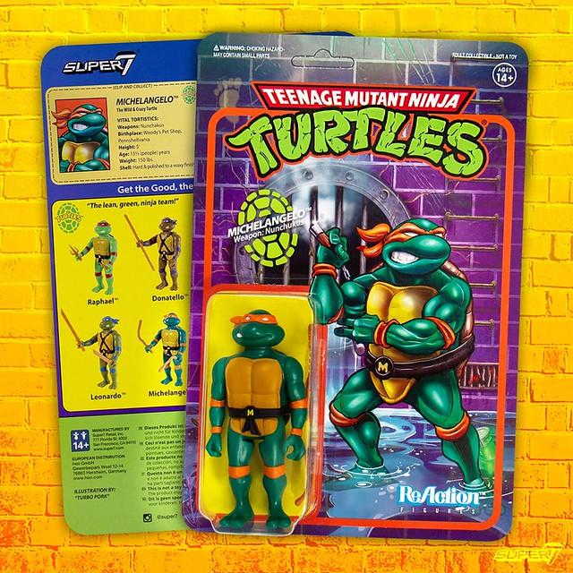 Super7 ReAction Figures 系列《忍者龜》TMNT 3.75 吋吊卡玩具第一波 Part.2