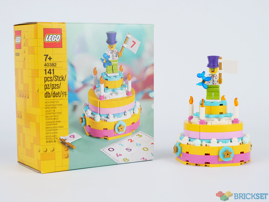 Pleasing Review 40382 Birthday Set Brickset Lego Set Guide And Database Funny Birthday Cards Online Sheoxdamsfinfo