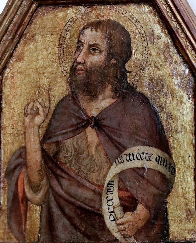 IMG_5983E Giovanni di Bonino (Maestro di Figline)  Actif à Assise 1325-1347 Saint Jean Baptiste  Parme Fondazione Magnani Rocca