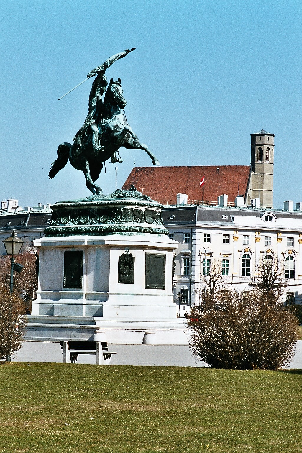 Erzherzog Karl Statue, Heldenplatz, Februar 2003