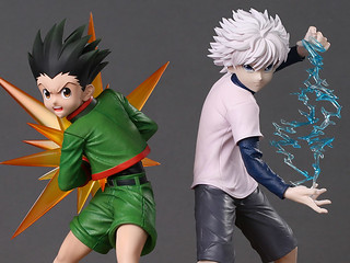 Espada Art《獵人HUNTER×HUNTER》小傑·富力士&奇犽·揍敵客 1/6比例 限量雕像(Gon Freecss & Killua Zoldyck Limited Edition Statue)