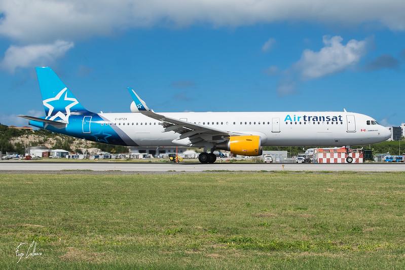 C-GTZX Airbus A321 Air Transat SXM