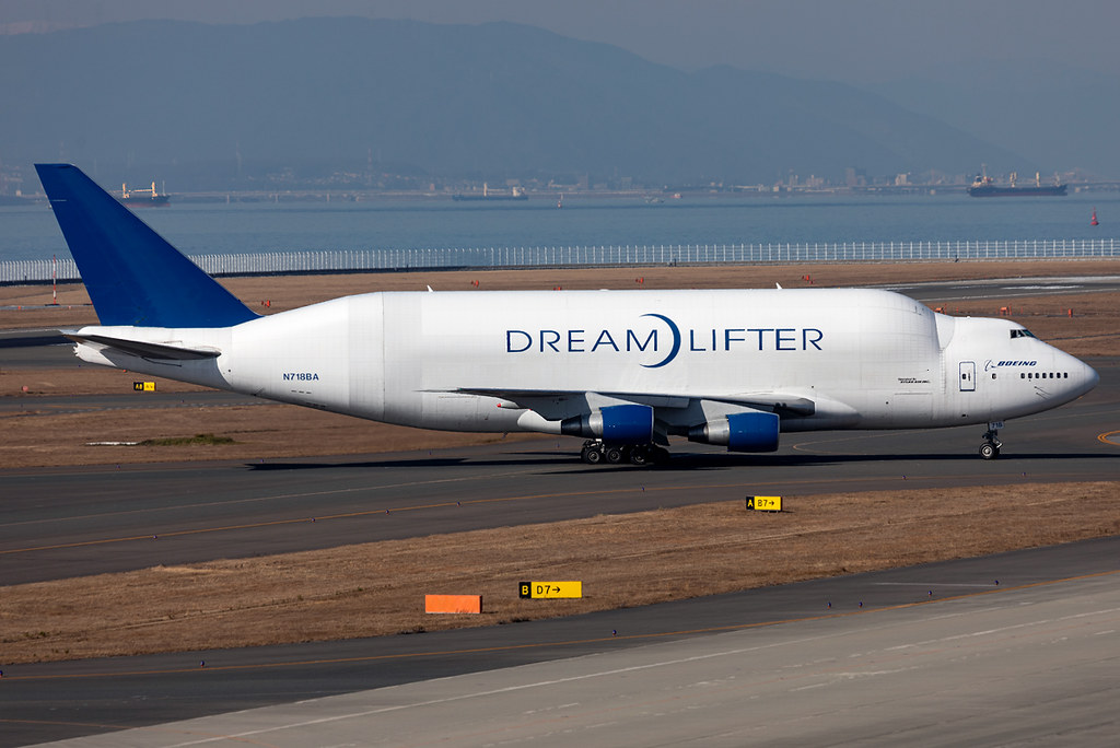 The spotting year 2020 began with a personal highlight that can now be ticked off the bucket list. The Dreamlifter is vacating RWY36 completing a flight from Anchorage ANC to pick up parts for the B787 production. Originally delivered 08/1992 to Malaysia Airlines.