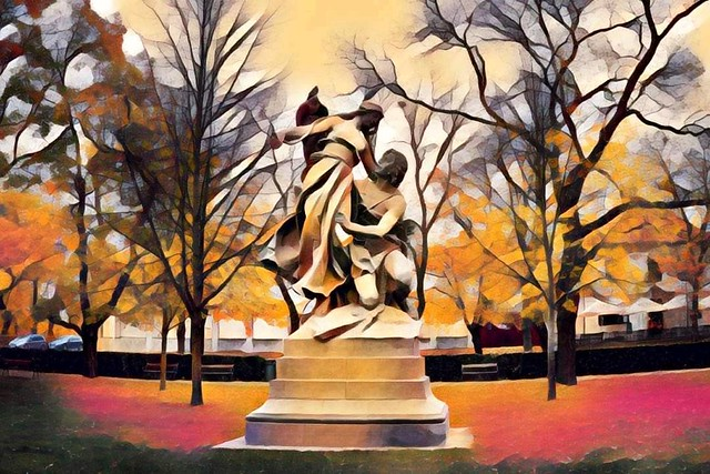 Statue in Abstract
