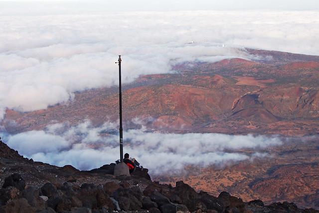 Looking down on Teide National Park, Altavista Refuge, Tenerife
