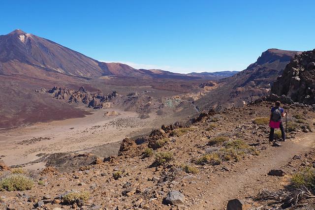Walking to the Parador, Teide National Park, Tenerife