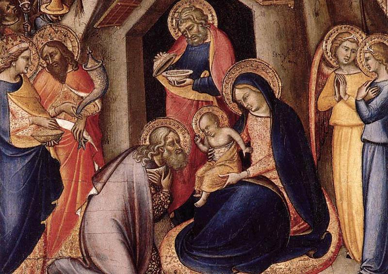 Luca di Tommà. La adoración de los Reyes.