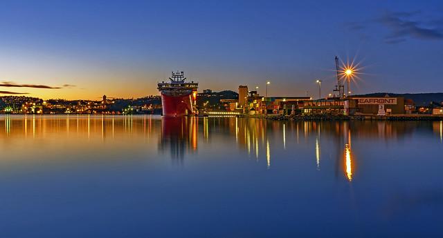 Harbor of Kristiansand, Norway