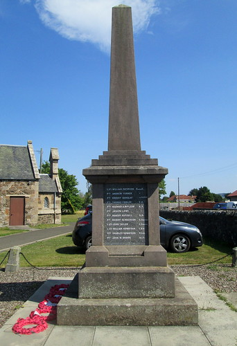 Giffordtown War Memorial, Western Aspect