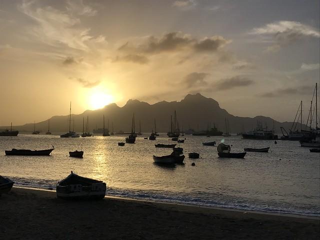 Sunset in Mindelo harbour (São Vicente, Cabo Verde 2019)