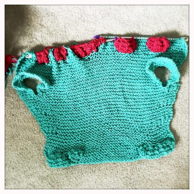 Knit Alligator Blanket WIP